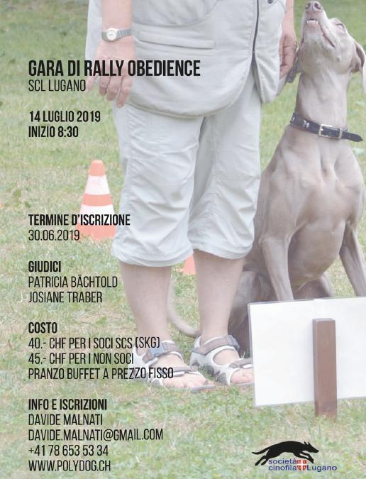 Gara di rally obedience (SCL Lugano)