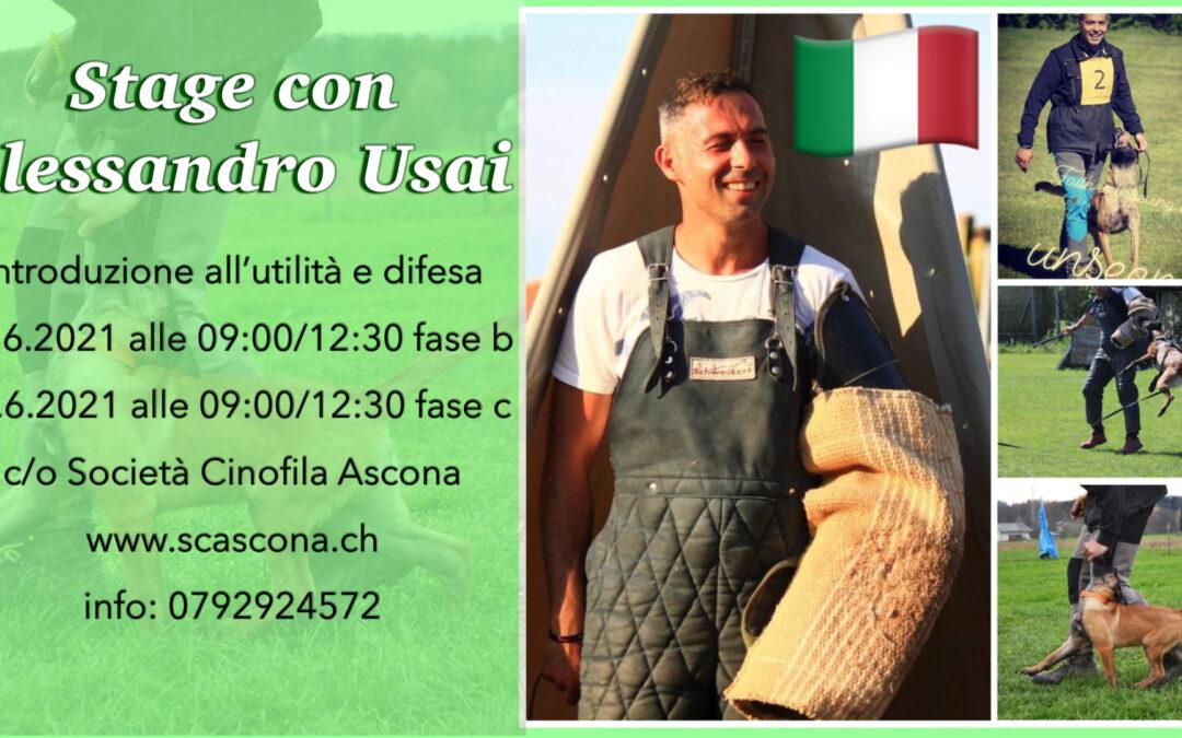 SC Ascona – Stage con Alessandro Usai – 12/13 giugno 2021