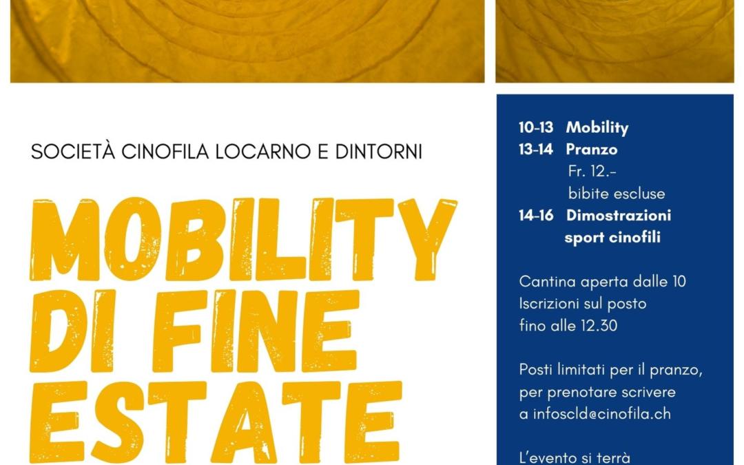 Mobility di fine estate – Società cinofila Locarno e dintorni